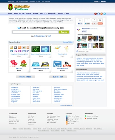 WebToolHub Free Icon Search Engine